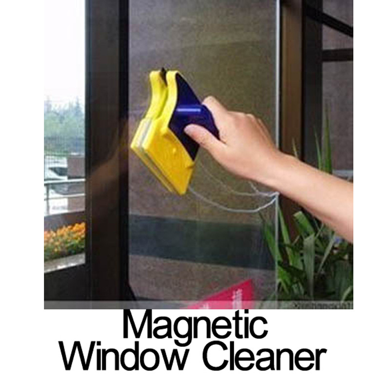 Hot!! Useful Magnetic Window Cleaner Double Side Glass Wiper Useful Surface Brush Free Shipping