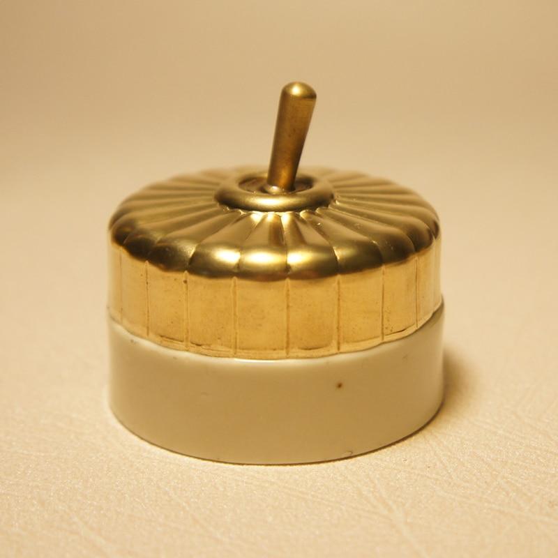 2 pièces haute qualité en laiton rétro interrupteur simple levier Sontrol cuivre On/off céramique Base Bar décoration sonnette interrupteur