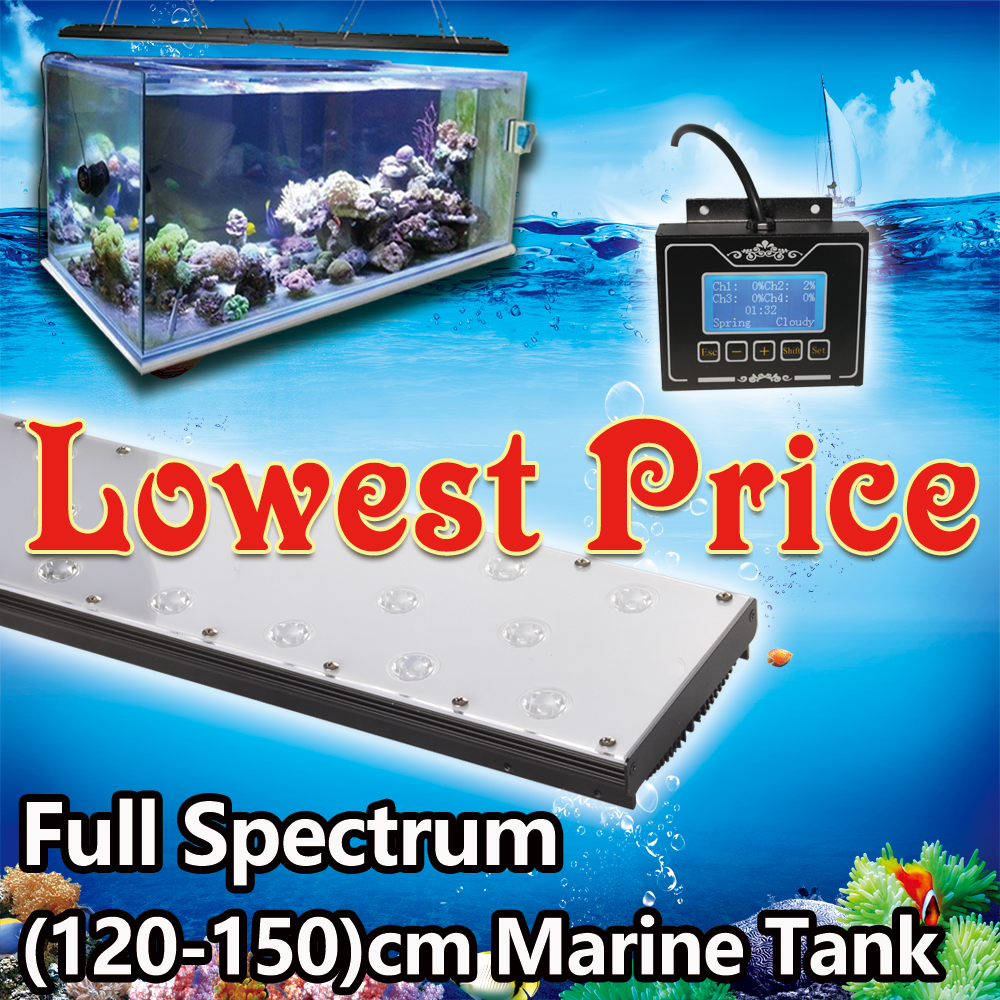 Fish aquarium online buy - Programmable Led Lamp For 48 120cm 4ft Marine Tank Marine Coral Reef