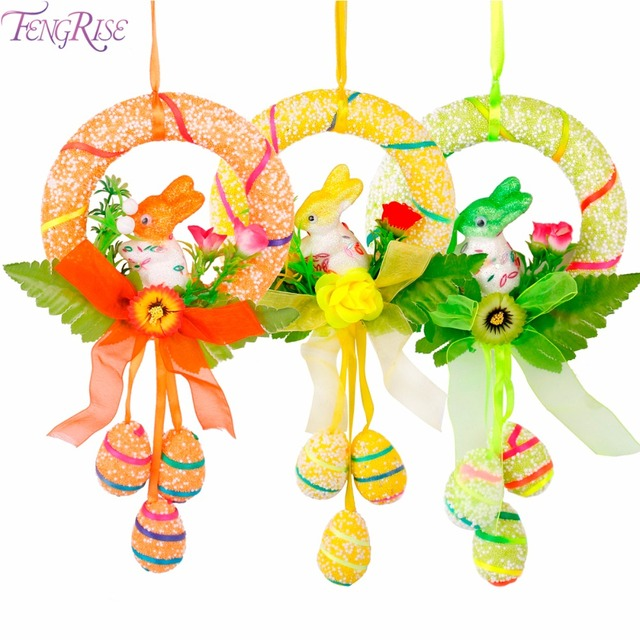 fengrise easter bunny hanging ornament happy easter decorations for