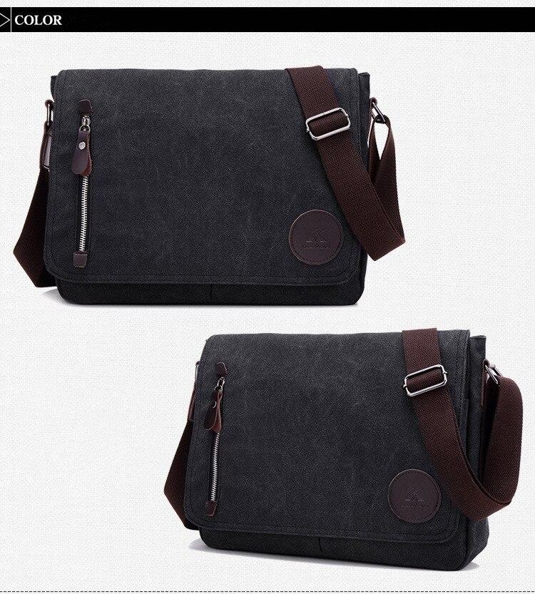 HTB1C6.XaErrK1RkSne1q6ArVVXar 2019 Vintage Men's Briefcase Canvas Men Messenger bag Classic Designer Shoulder Bags Pocket Casual Business Laptop Travel bags