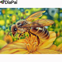 DIAPAI 5D DIY Diamond Painting 100% Full Square/Round Drill Flower bee Embroidery Cross Stitch 3D Decor A21588