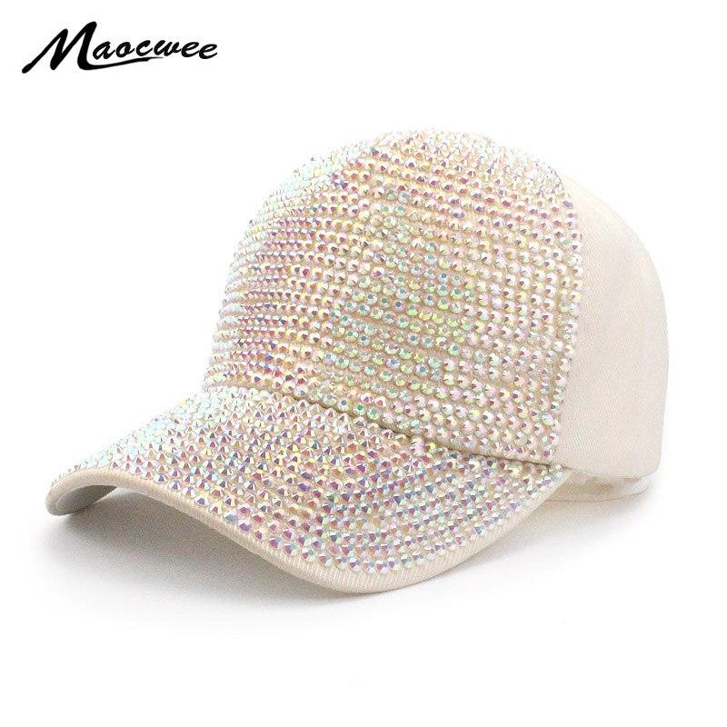 Fashion Rhinestone Hat Women Baseball Cap Girl Boy Snapback Cap Black  Baseball Hats High Quality Diamond Bone hip hop Gorro 2018-in Baseball Caps  from ... 96aefbc92197