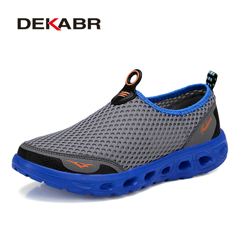 DEKABR 2018 Designer New Summer Mens Shoes Mesh Breathable Comfortable Men Casual Shoes Slip on Loafers Light Weight for Men