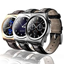 free ship Smart Watch X10 Smartwatch Heart Rate Monitor Bluetooth 4.0 Real Leather Belt Support Android and iOS Phone