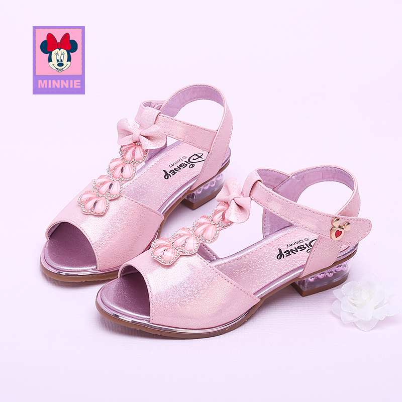 Disney Princess Shoes Childrens Sandals Girls Shoes Spring Summer Sandals Shallow Mouth Single Shoes Sandals For Kid Size 26-37Disney Princess Shoes Childrens Sandals Girls Shoes Spring Summer Sandals Shallow Mouth Single Shoes Sandals For Kid Size 26-37