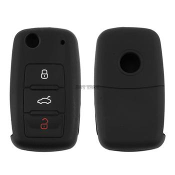 New New 3 Buttons Silicone Car Key Cover For VW For Volkswagen For Passat For TouranTransporter image