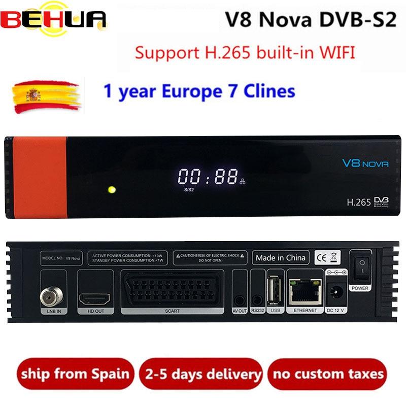 GTmedia V8 Nova DVB-S2 HD récepteur Satellite Soutien H.265 Décodeur avec Clines Newcamd puissance vu biss intégré WiFi ensemble décodeur tv
