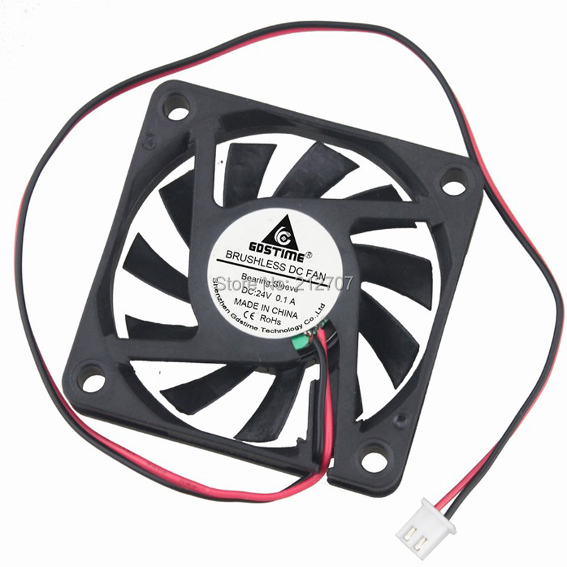 High Quality 20PCS 24V 2Wire 2Pin 6CM 60MM 6010 60X60X10mm DC Exhaust  Fan Cooler  computer cooling