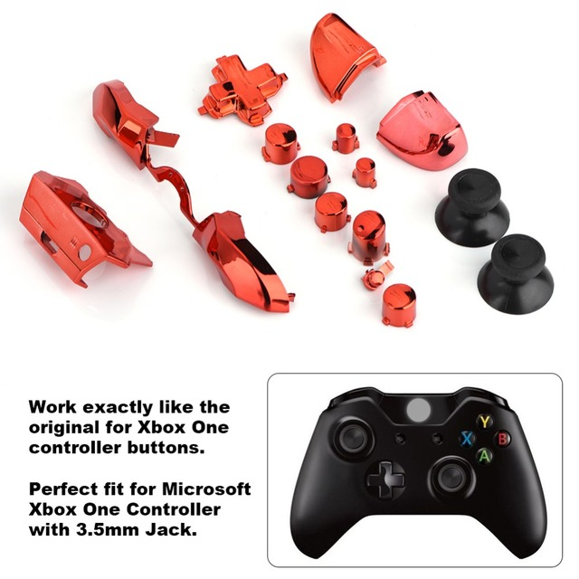 New Full Button Sets Mod Replace Part for Microsoft Xbox One Controller 3.5mm Jack