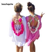 women summer dress 2018 Sexy Backless tassels woman beach dress sexy party dresses