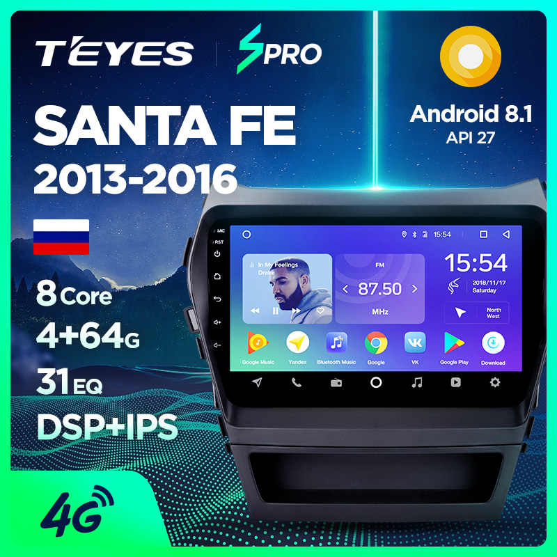 TEYES SPRO Auto Radio Multimedia geen 2 din android Video Speler Navigatie GPS Voor Hyundai Santa Fe 3 Grote 2013 -2017