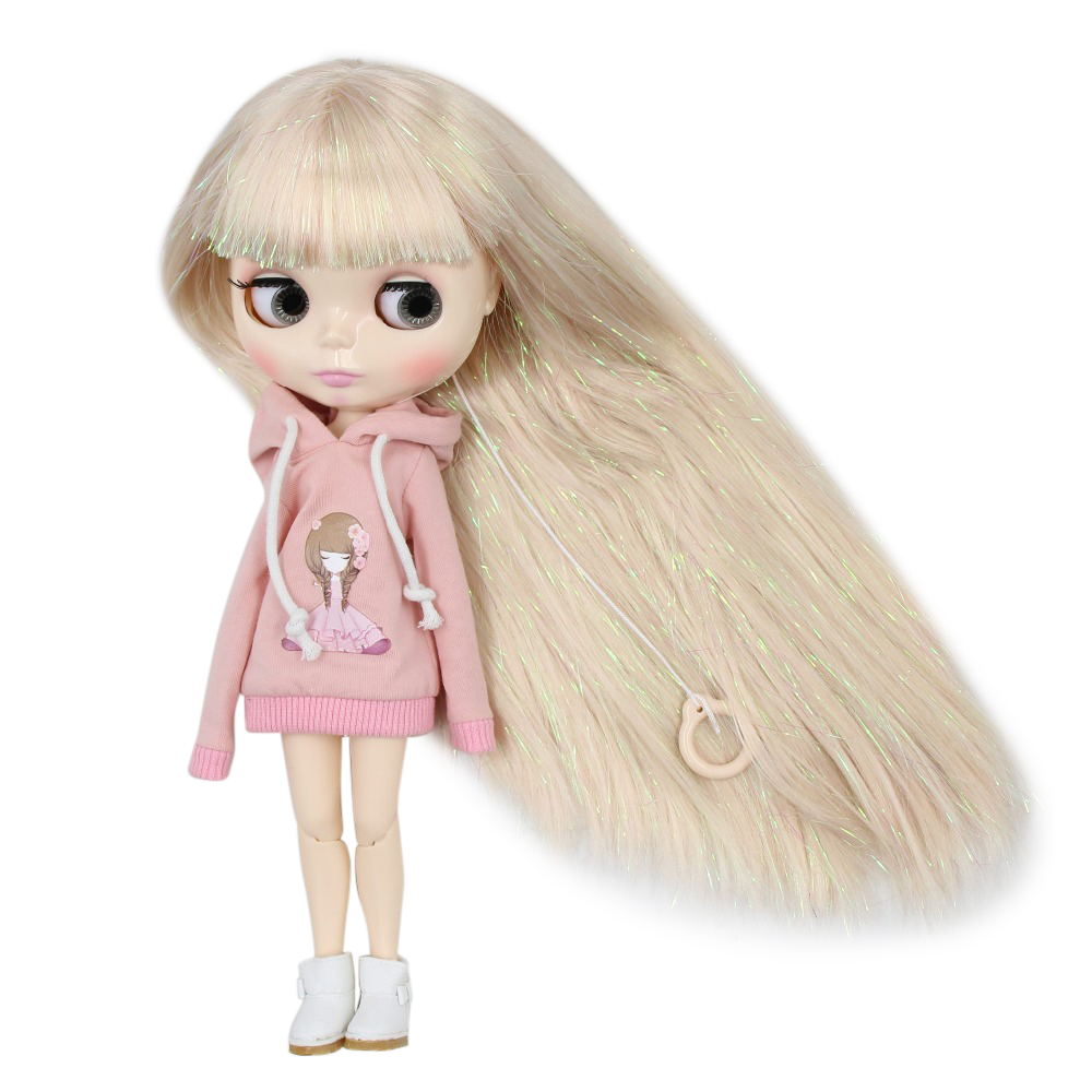 Factory blyth doll joint body white skin M 47 280BL3139 Shiny Blonde hair with bangs 30cm