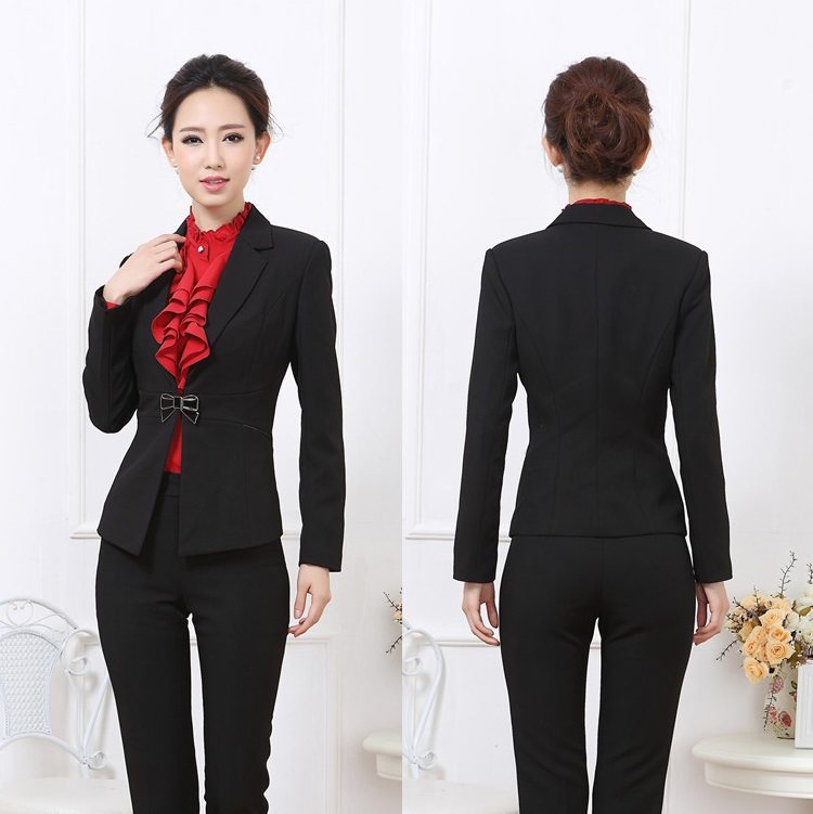 Innovative 2017 Spring Women Pant Suits Fashion Elegant Long Sleeve Pants Sets