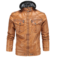 2017 Men S Faux Leather Jackets European Appear Brand Hooded Mens Leather Suede 3XL Winter Warm