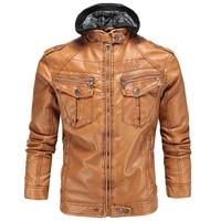 2017 Men's Faux Leather Jackets European Appear Brand Hooded Mens Leather Suede 3XL Winter Warm Men Michael Jackson Jackets S239