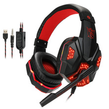 Купить с кэшбэком Best Gaming Headset Gamer casque Deep Bass Gaming Headphones for PS4 Xbox One Computer PC Laptop Notebook with Microphone LED