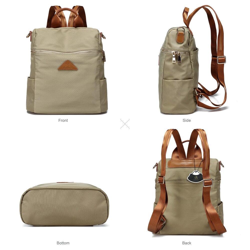 Vrouwen waterdichte nylon back pack dames schouder lichtgewicht reizen purse sling tassen voor vrouwen college boekentas - 4
