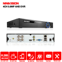 5 IN 1 4MP AHD DVR NVR XVR CCTV 4Ch 8Ch 1080P 3MP 5MP Hybrid Security DVR Recorder Camera Onvif RS485 Coxal Control P2P Cloud