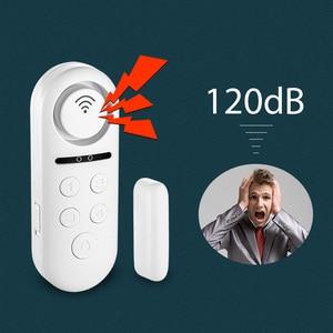 Image 1 - KERUI WIFI датчик двери, окна, двусторонний магнитный детектор 120 дБ 4 цифровой пароль приветствуется сигнализация система домашней безопасности