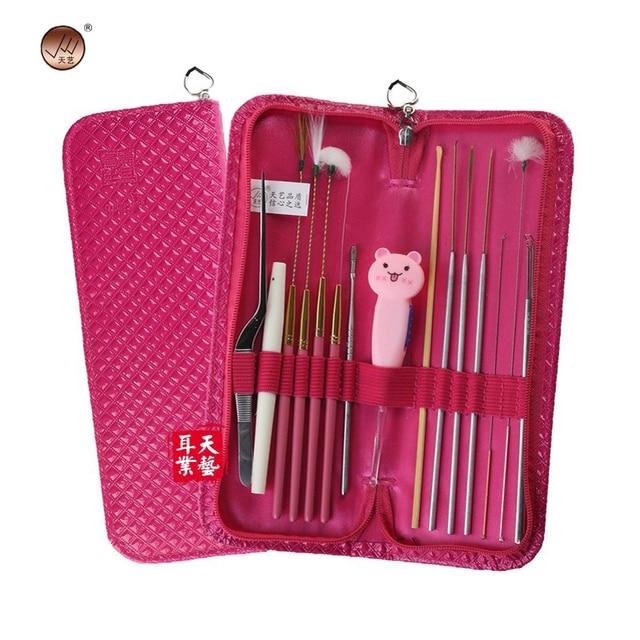 15pcs Professional Ear Care Curette Kit Set Health Ear Pick Ear Wax ...