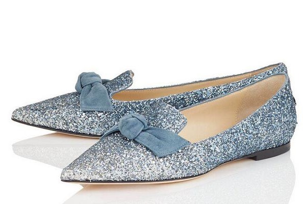 New Arrival Spring Women Blue Black Beige Bling Bling Glitter Sequined Bows Tie Butterfly Knot Pointed Toe Casual Flats Lady цена и фото