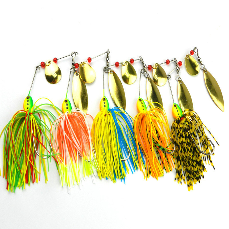 5pcs / lot 16.3g Spinner Fiske Lures Buzzbait Bass Fish Metal Bete - Fiske