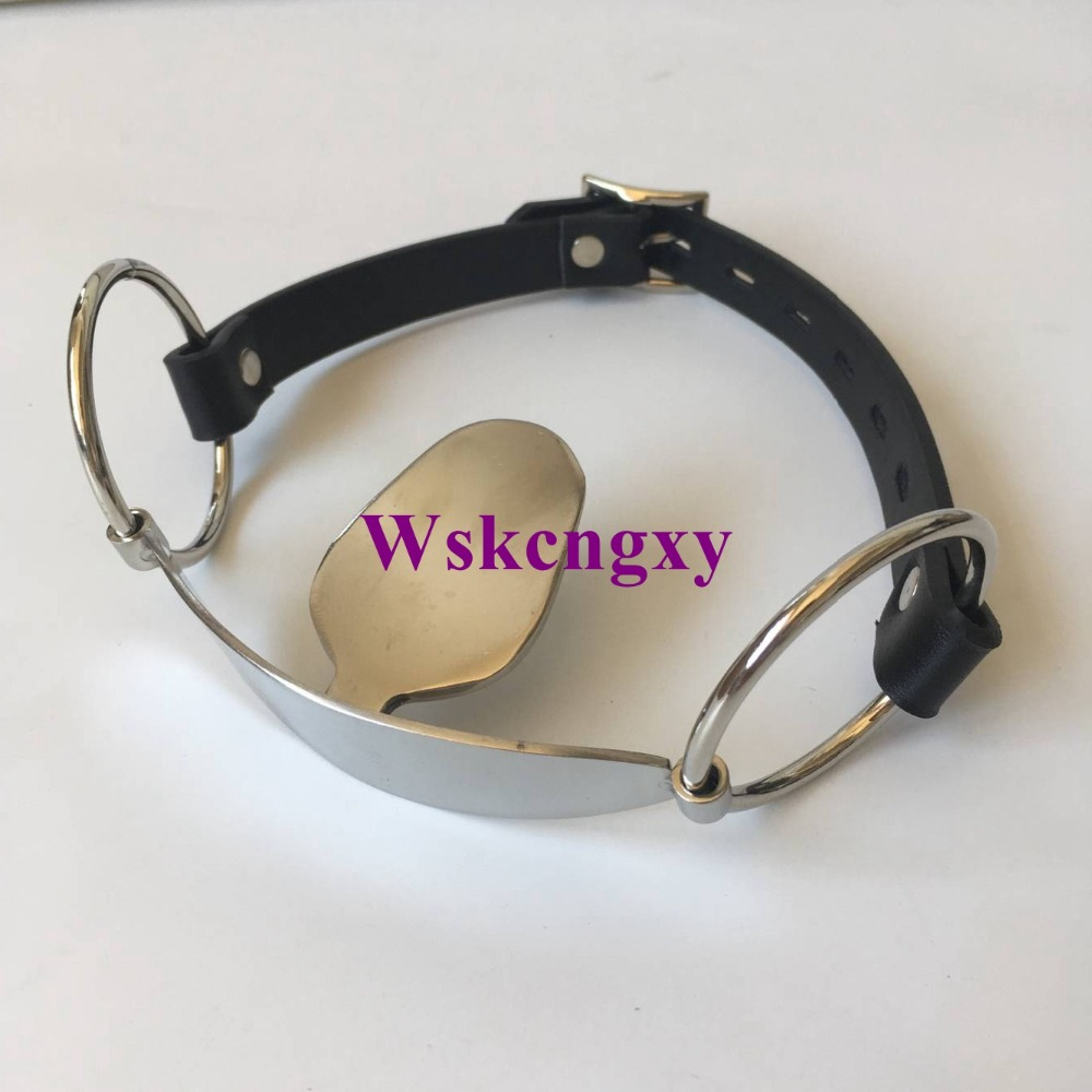 Stainless Steel Open Mouth Gag Tongue Flail Sex Slave BDSM Bondage Restraints Fetish Sex Toys For Couples Erotic Toys Adult game adult sex products bondage restraints 10 pieces set sex toys for couples handcuffs whip gag for adult slave game erotic toys