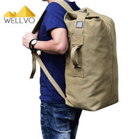 Outdoor Travel Luggage Backpack Army Bag Canvas Hiking Backpack Camping Tactical Rucksack Men Military Backpack