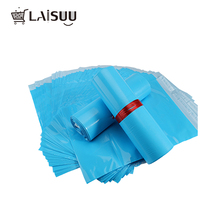 100pcs 6.7*10 inch/17*26 cm  Blue Poly Mailers Boutique Shipping Bags Couture Envelopes