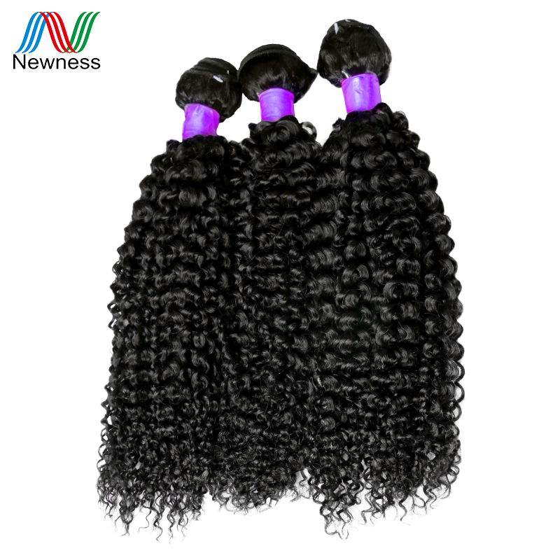 Newness Hair Peruvian Kinky Curly Hair 3 Bundles Natural Color Human Hair Weave Bundles Peruvian Hair Extensions