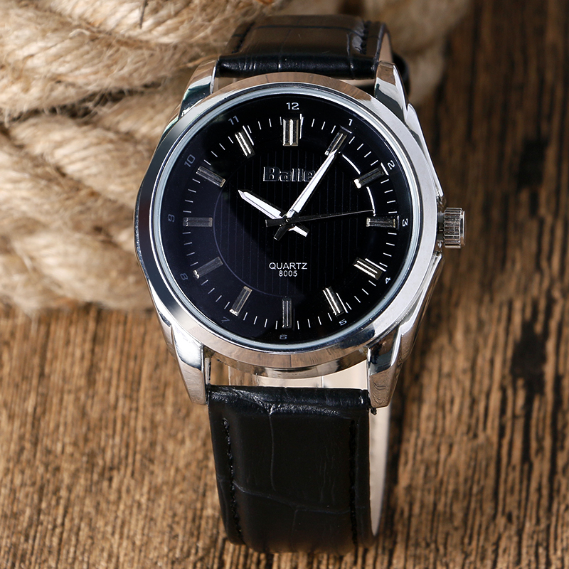 ball mens watch promotion shop for promotional ball mens watch on 2017 brand new balle black brown genuine leather strap band classic round dial analog unisex business men women wrist watches