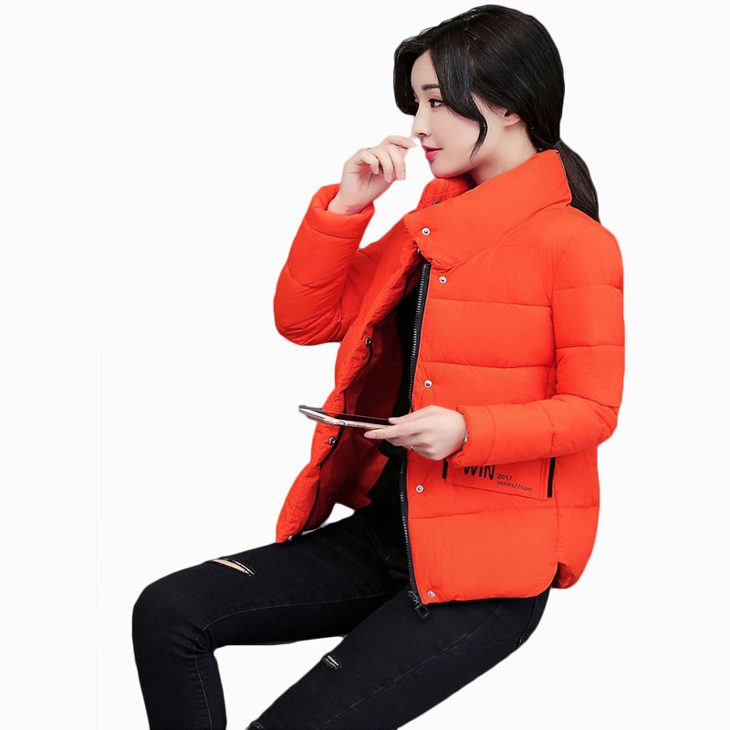 2017 NEW HOT SALE WOMEN WINTER JACKER SHORT STAND COLLAR THICKEN WARM FEMALE PARKAS COTTON WADDED COAT HIGH QUALITY ZL590