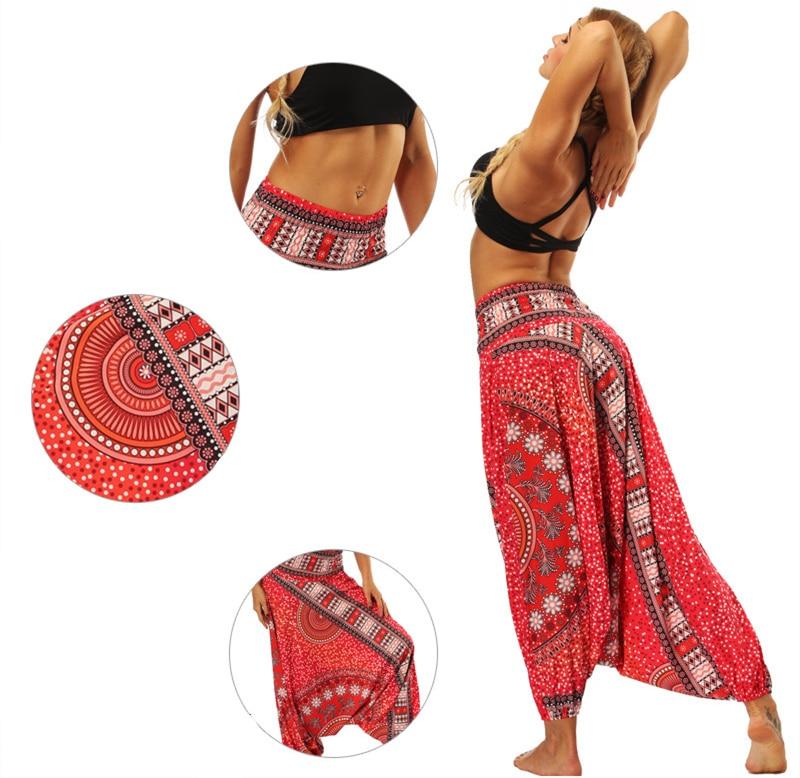 <+>  13 Цветов Summer Beach Yoga Cross-Pants Женщины Талия Плюс Размер Спортивные Брюки Свободные Печати  ①