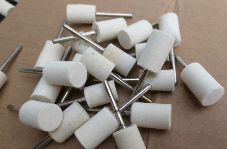 Free Shpping Of 10pcs/pack Cylindrical Grinding Of Wool Polishing Wheel Polishing Grinding Head Electric Grinding Head Flat 4mm