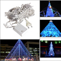 AC 220V 10m 100 LED String Light Strap Lamp White Waterproof for Home Garden Christmas Party Decoration Lights EU Plug