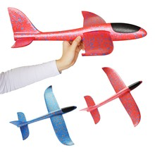 07b76bfb5b Lanzamiento de mano de espuma Palne 48 cm de gran tamaño EPP rc avión  modelo avión planeador aviones al aire libre DIY juguetes .