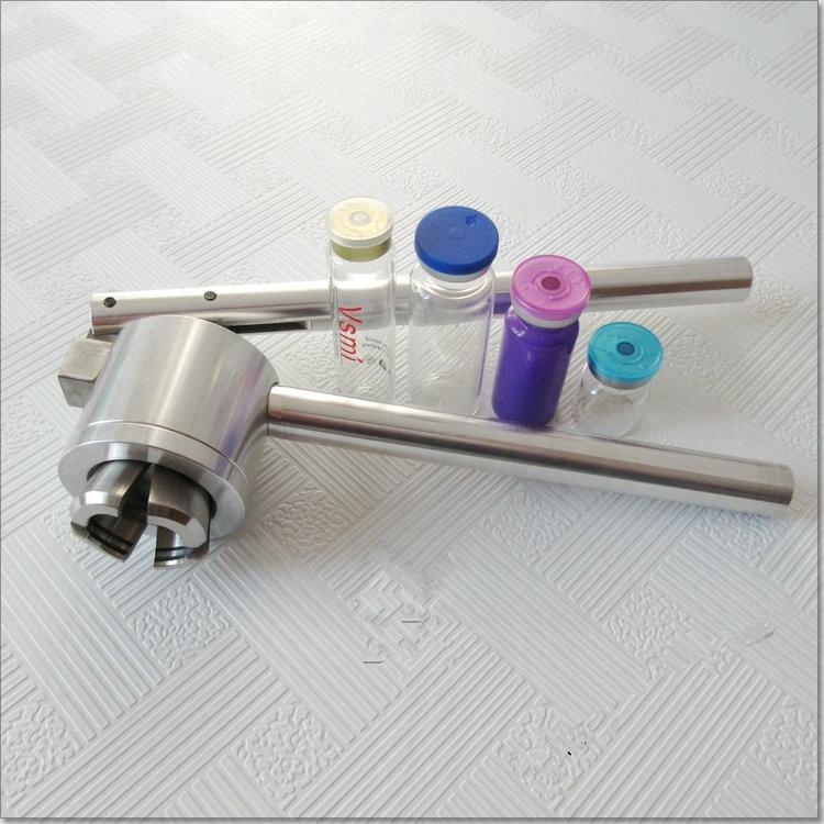 Купить с кэшбэком Manual Cap Crimper, 20mm Glass Bottle Sealing Machine, Manual Stainless Steel Vial Crimpers, Hand Sealing Tool