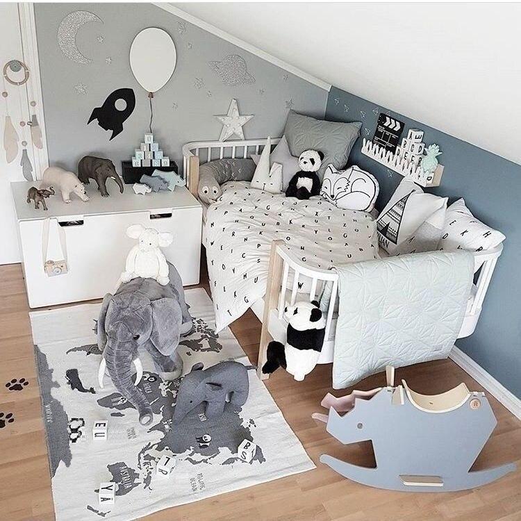 Скандинавском стиле Модные холщовые лесные дорожки Подиумные игровые коврики Детские наколенники для ползания одеяла напольный ковер украшение детской комнаты