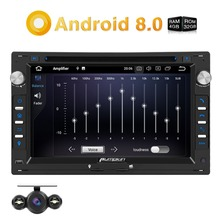 Pumpkin Car Multimedia Player 2 Din 7Android 8.0 GPS Navigation Qcta-core Radio Stereo For VW/Golf/Passat FM Rds