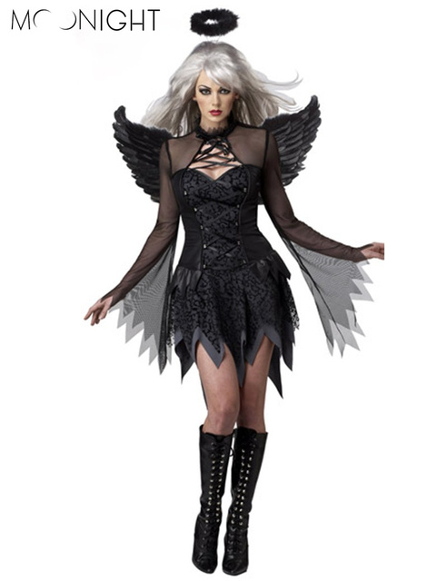 MOONIGHT Halloween costume witch cosplay with wings all saints sexy costumes zombie stage under appeal female the ghost bride