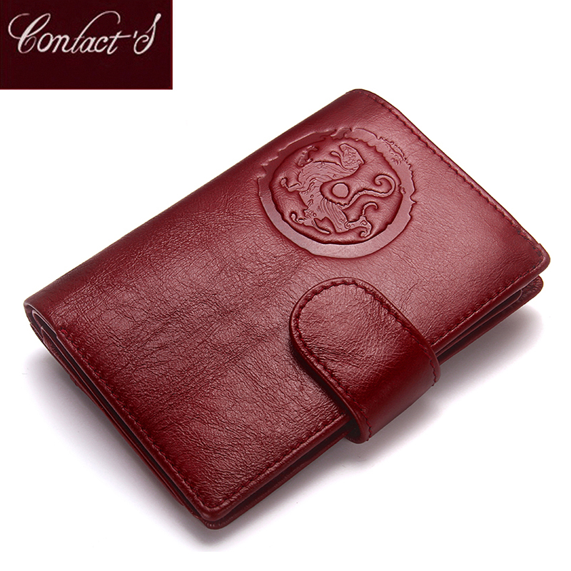 Fashion Women Wallets 2020 Genuine Leather Female Coin Purse Short Wallet With Passport Holder Large Capacity Card Holder Bag