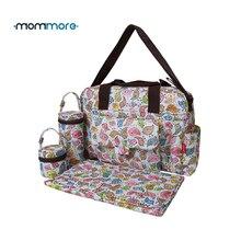 Mommore 5 adet/takım Nappy çantalar içerir bebek bezi çantası değişen ped şeffaf mumya analık çanta su geçirmez bebek bebek çantası