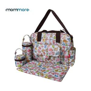 Image 1 - Mommore 5 pièces/ensemble Nappy sacs comprend sac à langer matelas à langer sac de maternité momie transparent sac de poussette bébé étanche