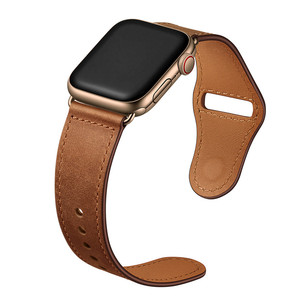 Image 4 - Retro leather band watches men Genuine For Apple Watch Band 44mm 40mm For Apple WatchBands 42mm 38mm Series 4 3 2 1 Watch Strap