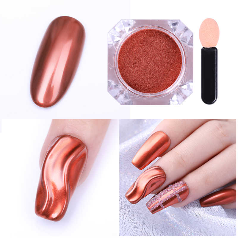 UR SUGAR металлические зеркальные Блестки для ногтей Пудра супер Сияющий серебряный красный золотой маникюр Дизайн ногтей пигмент хром пыль украшения