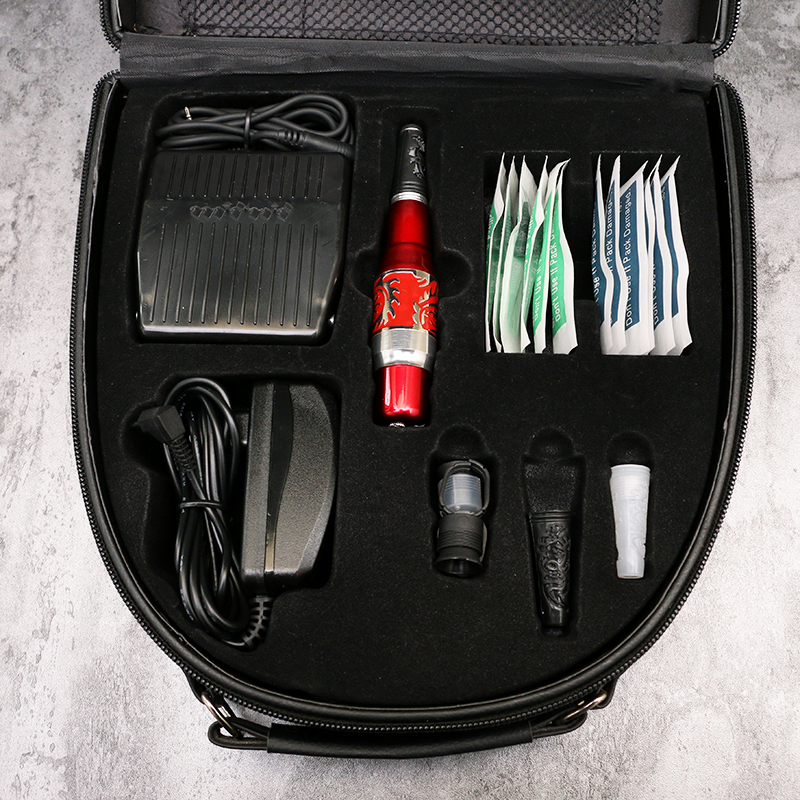 Permanent Makeup Eyebrow Pen Machine Kits With Foot Pedal Tattoo Gun Needles Cosmetic Tattooing Tool Set MKT211-217 best makeup pen machine eyebrow make up