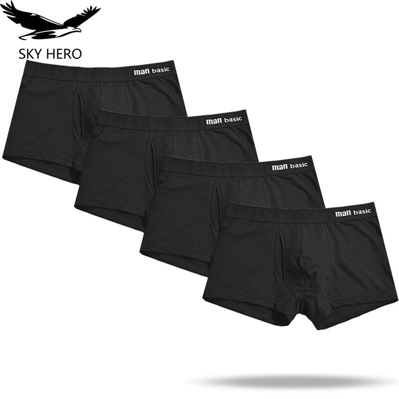 4pcs/lot Cotton Men Underpants Mens Underwear Boxers Homme Calzoncillos Hombre Boxershorts Male Panties Trunks For Man Boxer