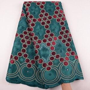 Image 3 - Oignon, dentelle suisse Voile, en suisse, tissu coton, africain, tissu en dentelle de coton sec nigérian, homme, 5Yards, Y1468