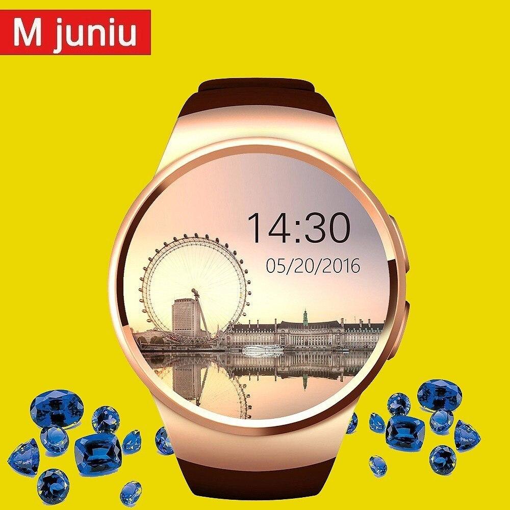 Kw18 montre intelligente hommes Support SIM TF carte Bluetooth appel fréquence cardiaque podomètre Sport étanche Smartwatch pour Android IOS horloge
